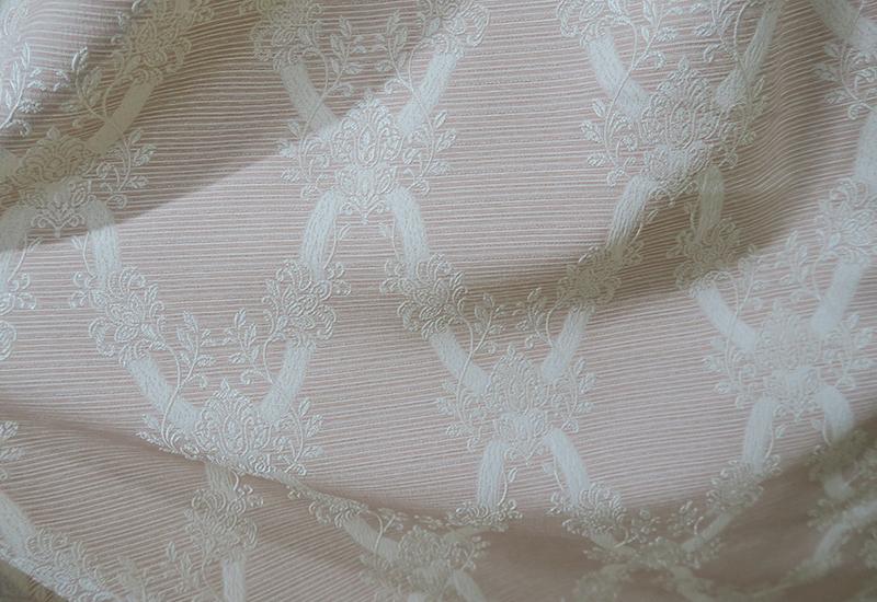 エレガントな柄のオーダーカーテン1 ピンク