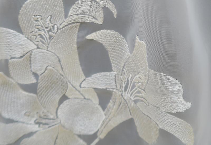 オーダー刺繍レースカーテン4