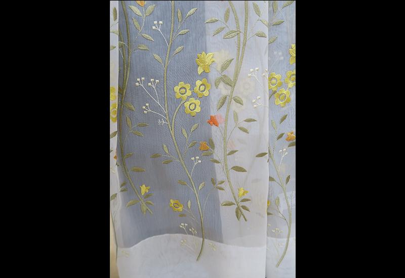 オーダー刺繍レースカーテン6