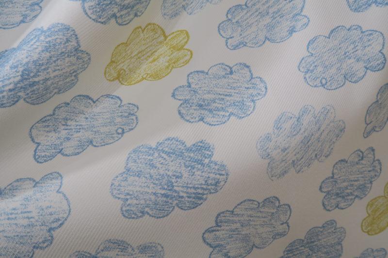 雲柄のオーダーカーテン